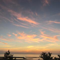 夕焼け/夕焼け空/夕日/三日月/サンセット/三日月サンセット/... 地元 新潟県 柏崎の夕日です。(その3)…