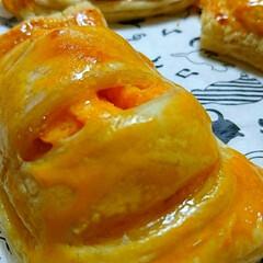 ごちそうさまでした/時短/手作り/お芋パイ/キッチン/暮らし/... おうちでお芋パイ😋🍴🍠  焼き菓子が届く…
