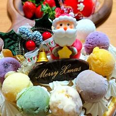 生チョコケーキ/アイスケーキ/大成功/時間との戦い/頑張ったおうちごはん/MerryX'mas/... 皆様、merryX'mas🎄😋🍴  前回…(4枚目)