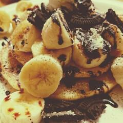 お腹いっぱい/おうちパンケーキ/リミアの冬暮らし/暮らし/フォロー大歓迎/節約 ちえパンケーキ😋🍴  今日のおやつに~ …
