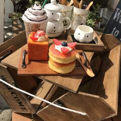 キャンプ/キャンドゥ/ダイソー/セリア/100均/DIY/... ダイソーの木材で作った開いてテーブルにな…