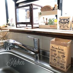 ダイソー/セリア/100均/DIY/キッチン収納/キッチン雑貨/... #DAISO で見つけた #水切りゴミ袋…(1枚目)