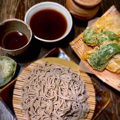 おうちごはん/和食/天ぷら/家蕎麦/おうちカフェごはん/おうちバル/... 家蕎麦 ・かき揚げ ・ピーマン天 ・いも…