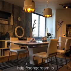 ダイニングテーブル/ホワイト/インテリア/食卓テーブル/伸張式/songdream  songdreamオリジナルの伸張式テ…