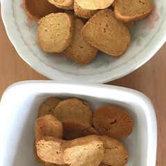 キッチン/ハンドメイド 久しぶりにおからクッキー、作ってみました…(1枚目)