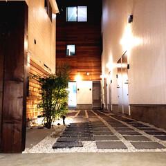 DIY/通路/砂利/コンクリート平板/アプローチ/マンション/...