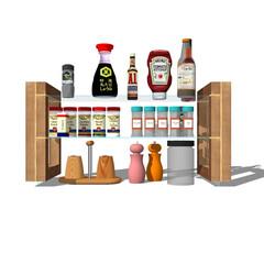 キッチン収納/食器とは言えない/スパイスラック/ガラストップ/強化ガラスだけど取扱注意っぽい/地味に難易度高い施工/... 食器と言えるかどうか?言えないか。 棚ご…