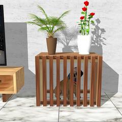 犬小屋/ドッグハウス/インテリア/犬家具 奥行をコンパクトにするとケージになります…