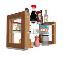 プロトタイプ割引あります!/DIY家具/キッチン収納/ガラストップ こんな感じで浮いてます。 このネタは実物…