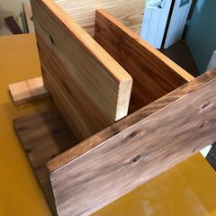 シューズボックス/スツール/DIY/玄関/収納 製作中の玄関スツール@Solid Mod…