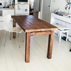 和モダン/北欧/アンティーク/ヴィンテージ/男前/ヒノキ/... 新作ダイニングテーブルが完成 かなり安く…