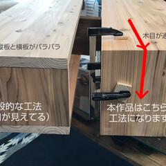 テレビボード/工法/杉/収納/ボックス くろまめのテレビボードは手間がかかってま…