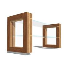 ガラス/棚/収納棚/取扱い注意/またしても浮いてる系/ラック ガラスの棚ですがまたしてもなんか浮いてる…