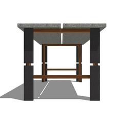 テーブル/アイアン/モルタル/ダイニングテーブル/アイアンペイント/エイジング/... コンパクトに配送するためのデザイン。 無…
