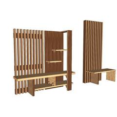 創作家具/パーテーション/壁/壁面収納/すのこ/収納/... この手のパーテーションベンチ?みたいなも…