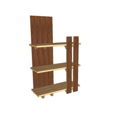 収納/収納棚/釘が打てる家具/ラック/リビングボード/パーテーション/... 「釘が打てる家具」をコンセプトにした収納…