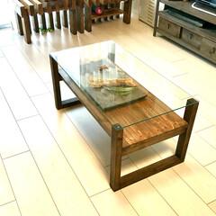 コーヒーテーブル/ローテーブル/インテリア/DIY/家具/住まい/... 新作のローテーブルです!