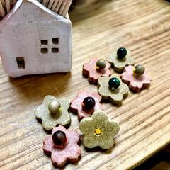 インテリア小物/焼き物/土いじり/オーブン粘土/インテリア/ハンドメイド オーブン粘土で作りましたー。 つまようじ…