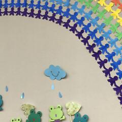 「#壁面の虹 #みんなで虹 」(2枚目)