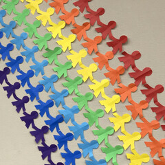 「#壁面の虹 #みんなで虹 」(1枚目)