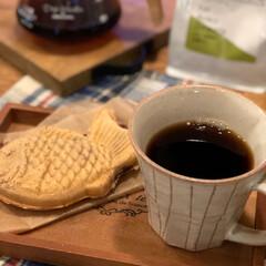 Coffee/ブラックコーヒー/あんこ/たいやき/鯛焼き/グルメ/... 最近のお気に入り✨  たい焼きと HOT…