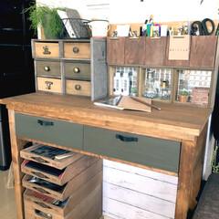 リフォーム/DIY/雑貨/100均/セリア/ダイソー/... 以前作った机…あまり使われず物置化してい…