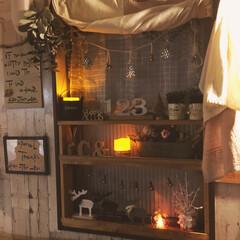 フェイクグリーン/ディスプレイ/窓/Christmas/クリスマス/Xmas/... 夜バージョン✨ これも撮るの難しい〜〜(…