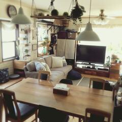 リメイク/リビング/IKEA/雑貨/100均/セリア/... 我が家のリビング ダイニングテーブルはI…