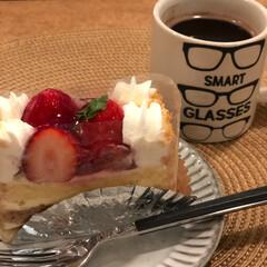 苺のケーキ/いちご/ケーキ/グルメ/フード/スイーツ/... やっぱりこの時期は🍓苺✨  大好きな苺ケ…