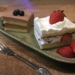 苺のショートケーキ/チョコケーキ/バルミューダ/苺/ケーキ/キッチン/... 三男がインフルでお休みしてたと思ったら……