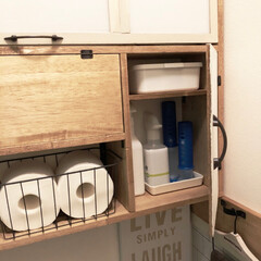 インテリア/トイレ/DIY/雑貨/100均/セリア/... 先日…セルフリノベーションした 1階のト…(2枚目)
