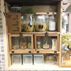 調味料/メッシュフレーム/ワトコオイル/ファルカタ材/棚/DIY/... caféコーナーを 丸ごと移動したので(…