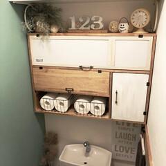 インテリア/トイレ/DIY/雑貨/100均/セリア/... 先日…セルフリノベーションした 1階のト…