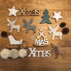 クリスマスグッズ/wood/クリスマス/雑貨/100均/セリア 今年…セリアで買った ナチュラルwood…