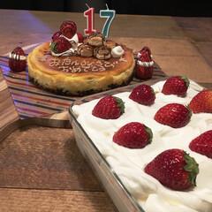 トライフル/いちご/息子/誕生日ケーキ/birthdayケーキ/手作り/... 3人息子のbirthday🎂cakeは …