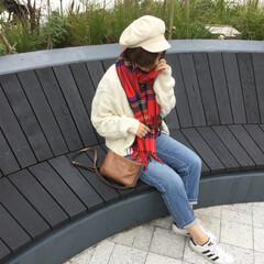 カジュアル/カジュアルコーデ/ママコーデ/ママファッション/シンプル/シンプルコーデ/... カーディガンは、去年のGU。編みが可愛い…