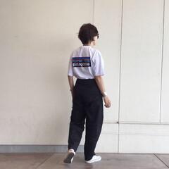 patagonia/ユニクロ/UNIQLO/カーブパンツ/UNIQLOU/プチプラ/... patagoniaのTシャツ、やっと着れ…
