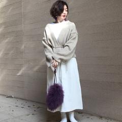 ママコーデ/ママファッション/シンプル/シンプルコーデ/カジュアル/カジュアルコーデ/... mayblue のコーデュロイスカートは…