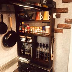 スパイスラック/DIY/調味料ボトル/キッチンタイマー/ボトルラベル スパイスラック&調味料ボトル
