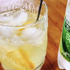 レモネードソーダ/炭酸水/夏対策/おうちカフェ 今日も暑かったですね💦 4月終わりに作っ…