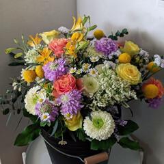 おうち時間/優しい気持ち/花束/ブーケ/花のある暮らし/住まい/... お世話になっているお花屋さんの素敵な企画…