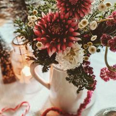 花と暮らす/暮らしを楽しむ/クリスマスディスプレイ/キャンドル/テーブルコーディネート/定期便/... お花の定期便。 クリスマスにぴったりなブ…