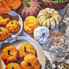 ごちそうさまでした/美味しいおかず/食卓/パンプキンメニュー/季節を楽しむ/花のある暮らし/... かぼちゃかぼちゃ安かったので、かぼちゃ茶…