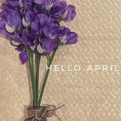 春の花/4月/スイトピー/花のある暮らし/雑貨 早いものでもう4月。