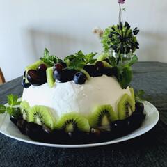 手作りケーキ/バースデーケーキ/ケーキ 長男と次女のお誕生日ケーキ🎂