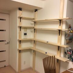 コーナンDIY/収納 2×4を使い棚製作