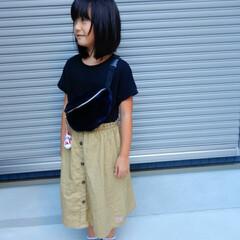 kidscode/fashion/KIDS/ファッション/フォロー大歓迎 娘さんコーディネート❤️ まだまだあつい…