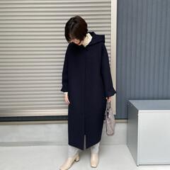 ママコーデ/mama/コーディネート/ファッション 今日は寒くて今季初コート おろしをしまし…