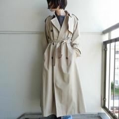 fashion/outfit/コーディネート/コーデ/code/春/... 髪をきってボリュームのある お洋服スッキ…