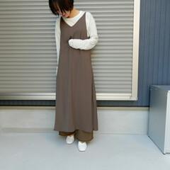 コーディネート/コーデ/ファッション/フォロー大歓迎 おきにいりの透け素材の ロンティは今の時…